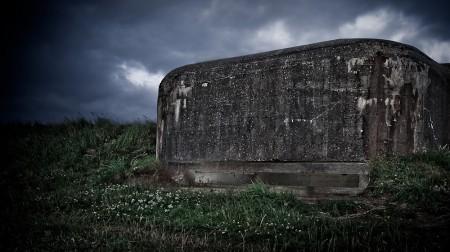 Bunker ved Svinkløv Camping.